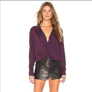 NEW WITH TAGS Rails Sloan tie-front Blouse top